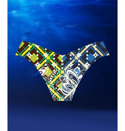 eXOTRik Blue/Green Paisley Bikini