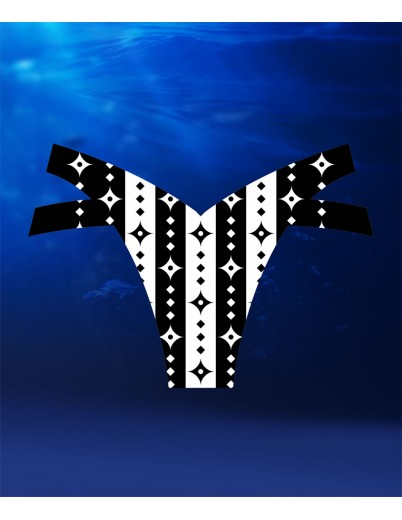 eXOTRik Shuriken Black/White Stripes Bikini