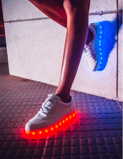 eXOTRik White LED Sneakers
