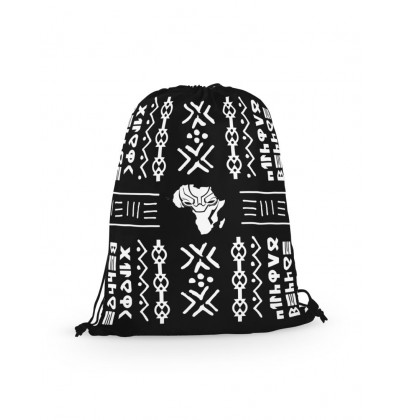 eXOTRik Black Panther Wakanda Africa Drawstring Bag